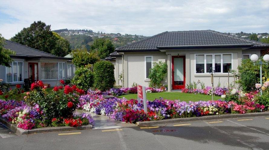 Thorrington Village villas in spring