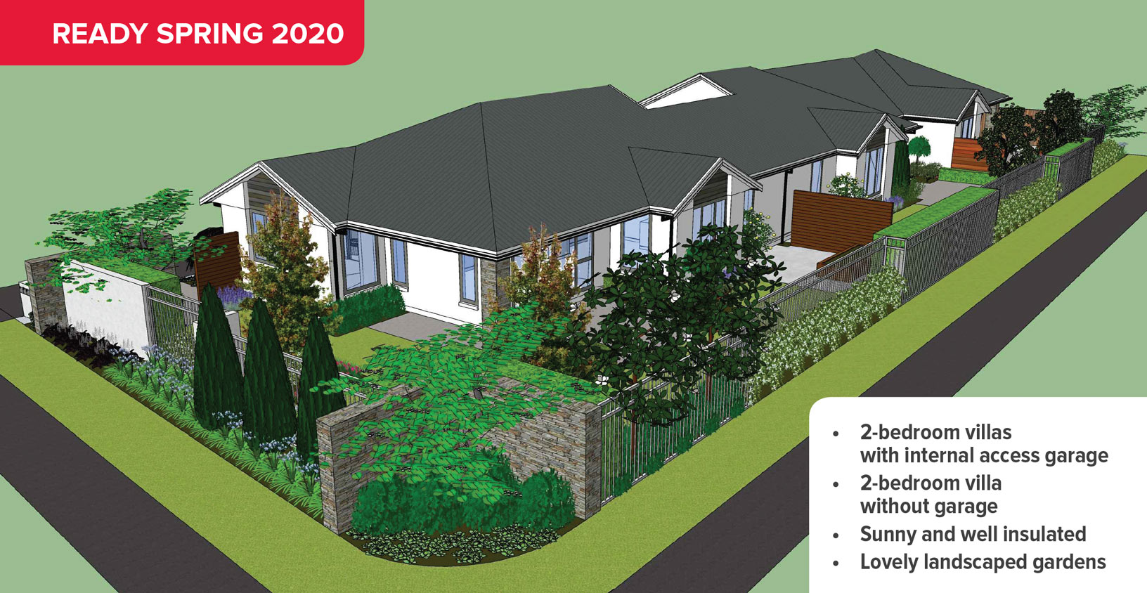 New high-quality Thorrington villas