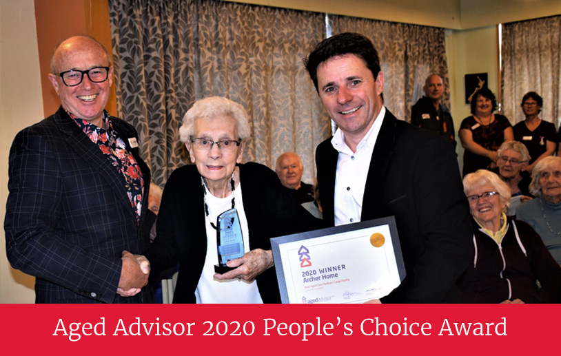 Archer Home Aged Advisor Award 2020