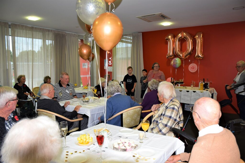 101 years old special afternoon tea