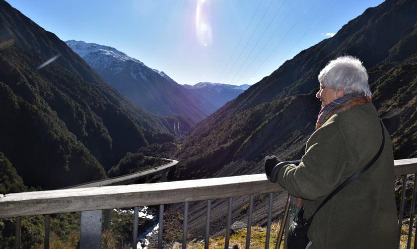 Archer Tours Tranzalpine train Arthur's Pass panoramic view