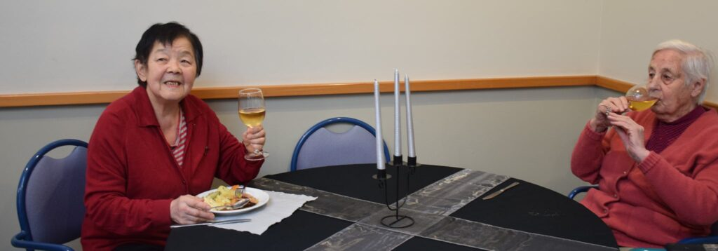 Great food at Thorrington Home's Midwinter celebration