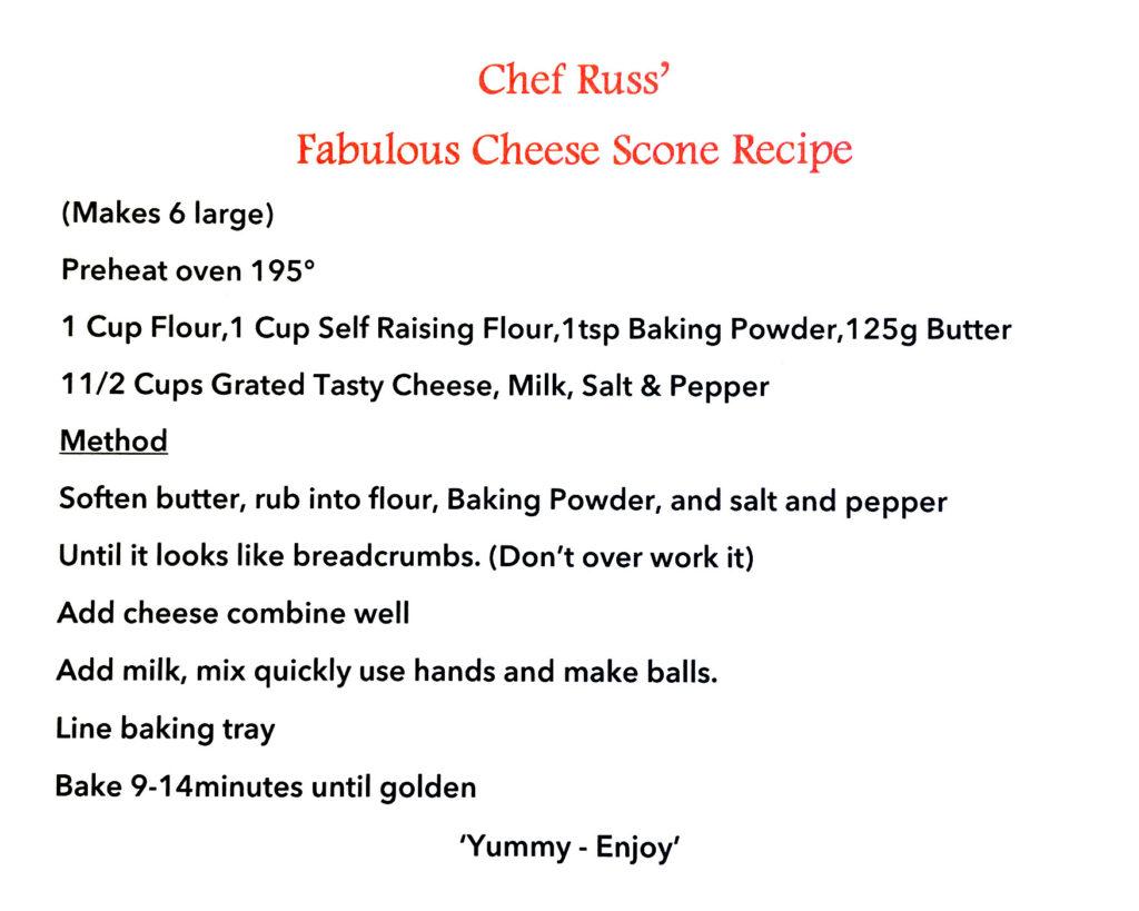 Archer Village Chef Russ' Fabulous Cheese Scone Recipe